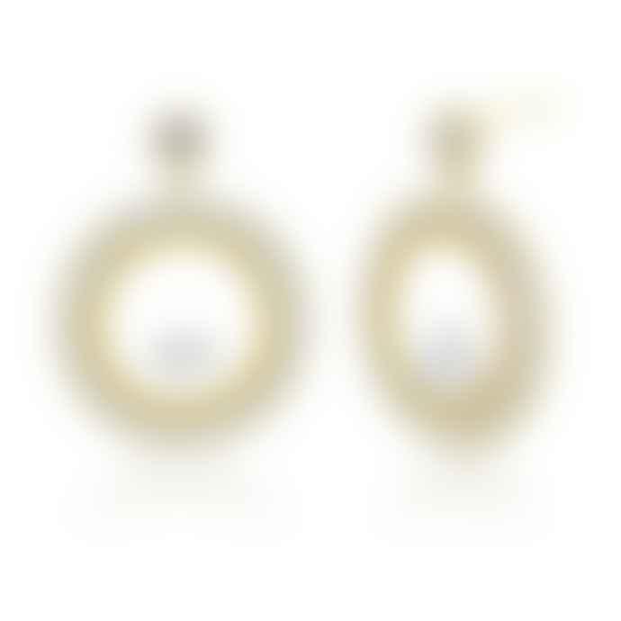 Last True Angel Hollow Circle Crystal Earrings