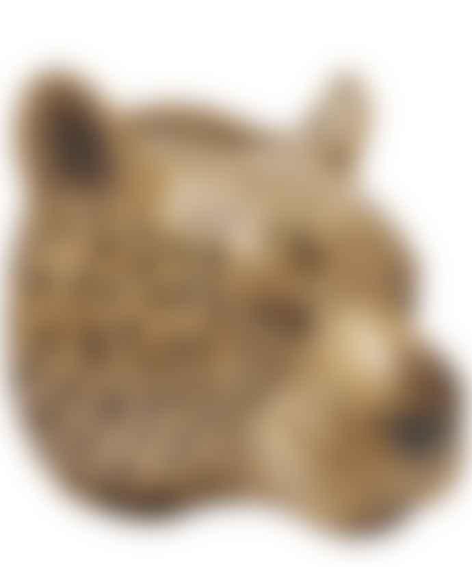 Quail Ceramics Leopard Wall Vase