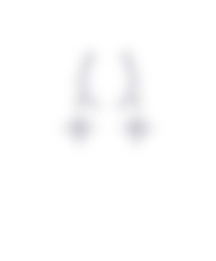 Last True Angel Crystal Arc Drop Star Earrings Silver