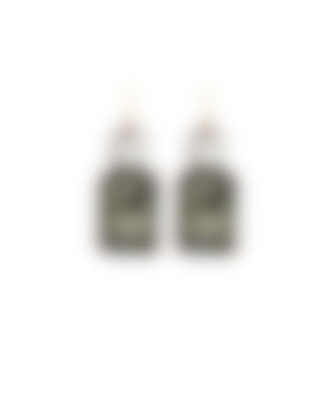 Last True Angel Slate Grey Pearl Gem Drop Earrings