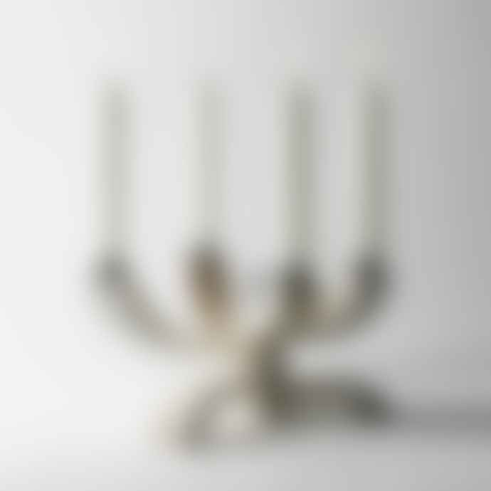 Design House Stockholm  Nordic Light White Four Arm Candelabra