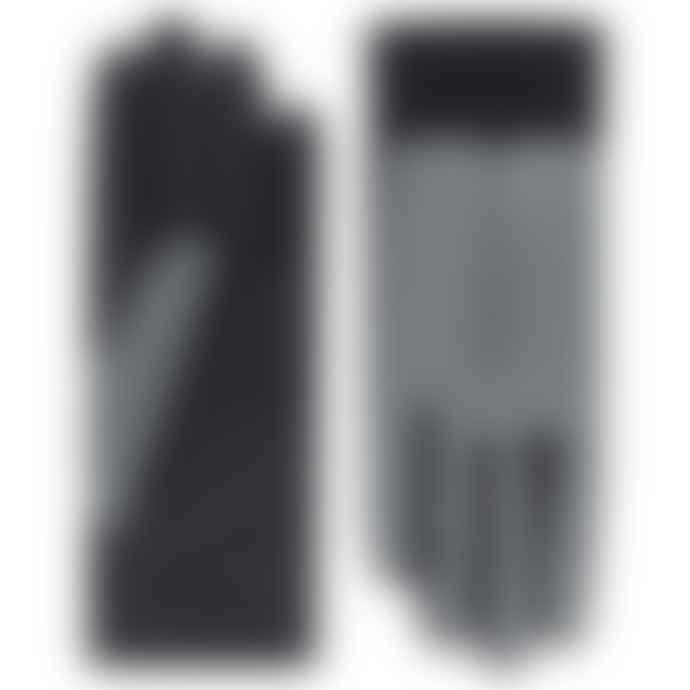 ROECKL Black/ Silver Touch leather gloves STOCKHOLM