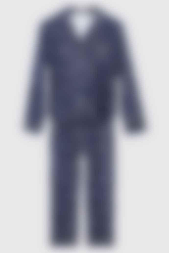 MSH Super Soft Cotton Star Pyjamas In Navy Or Grey