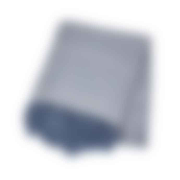 &Quirky Blue Herringbone Blanket Throw