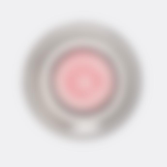 Pura Cal Pink Stripes & Grey Handmade Terracota 28CM Plate