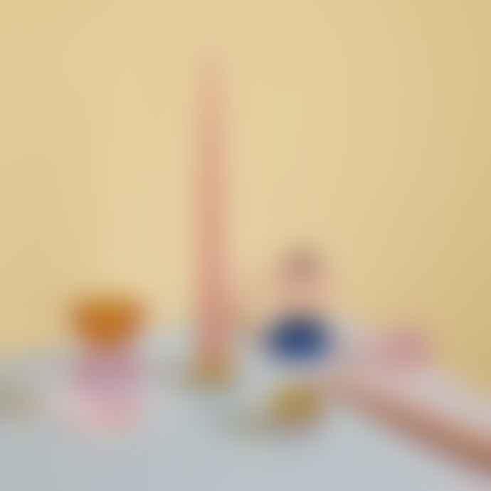 Hubsch Candlestick, Glass, Amber/Purple