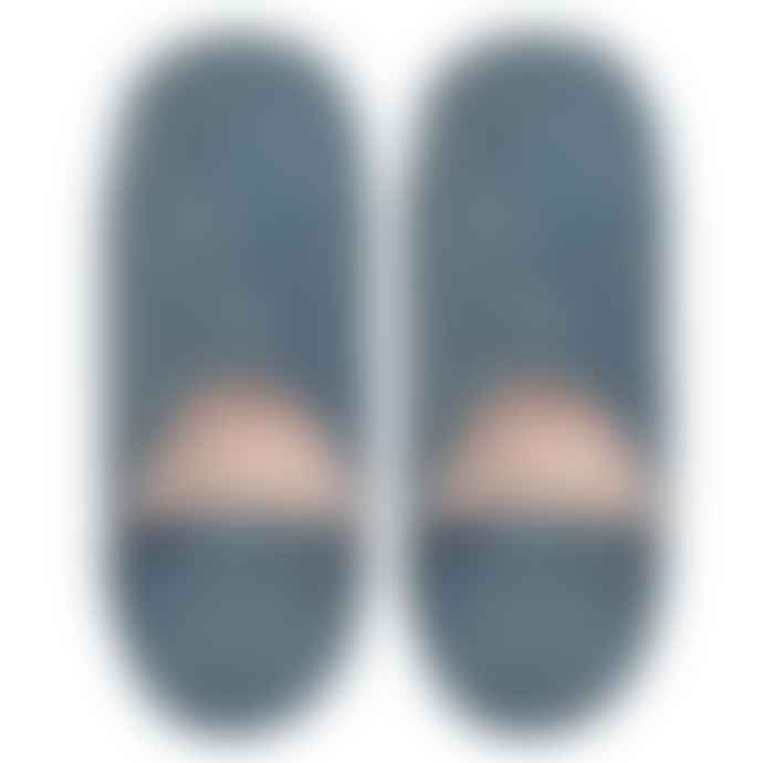 Yonder Suede Babouche Slippers Petrol Blue