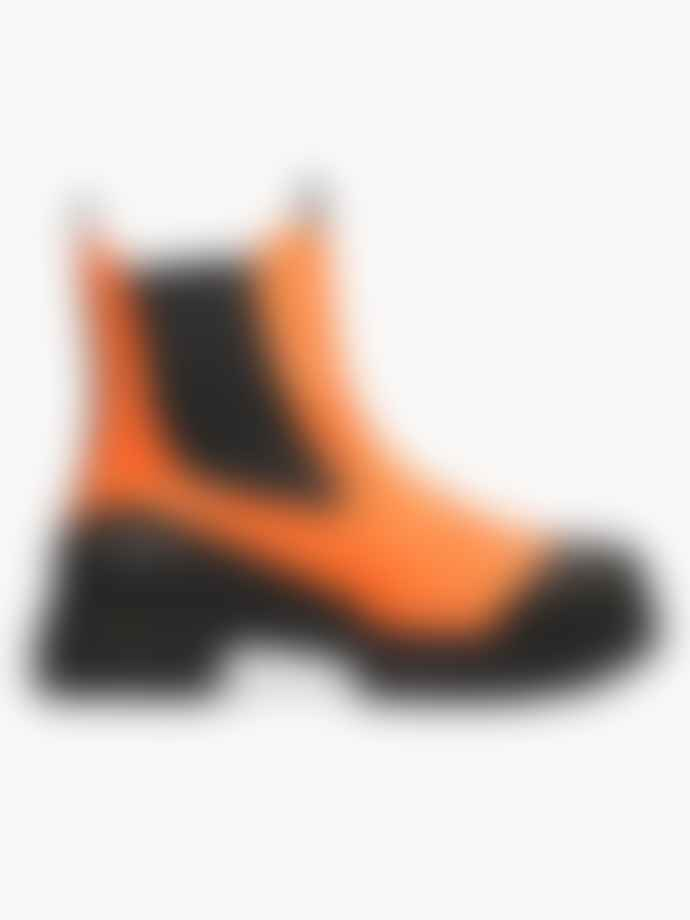Ganni Recycled Rubber City Boot Flame