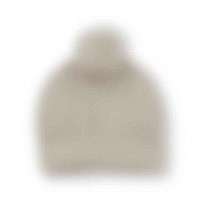 One More in the Family Santis Beanie Bobble Hat In Beige