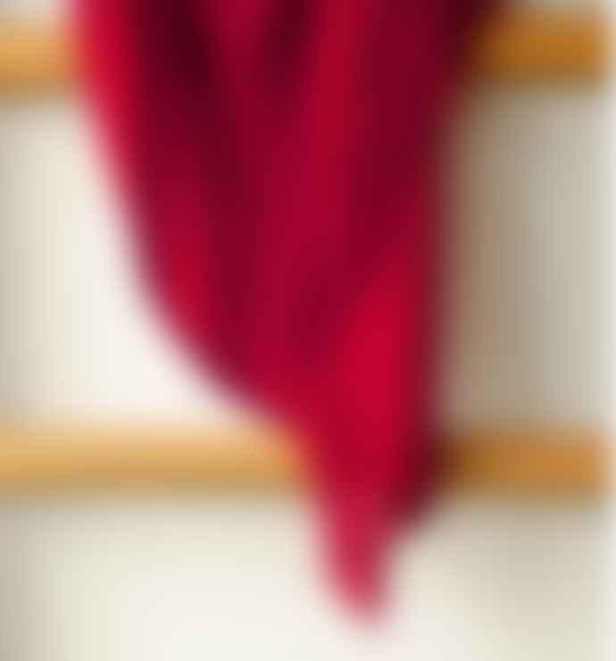 Mahala Madder Indigo and Sapanwood Dyed Merino Wool Handwoven Shawl