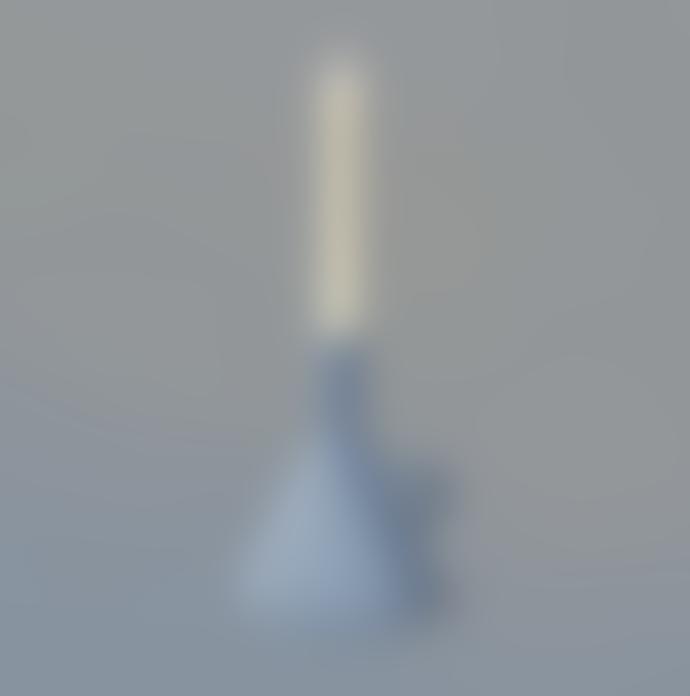 Rotganzen Candle Holder Funnel Blue