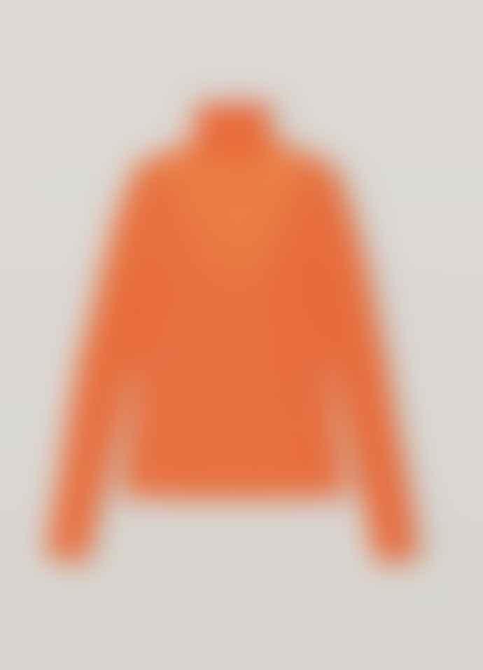 Ganni Light Merino Knit Top Roll Neck
