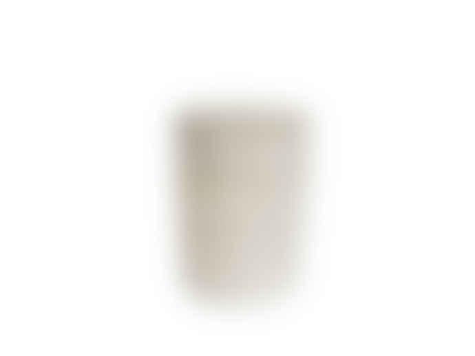 The Goods Medium White Natural Rattan Laundry Basket