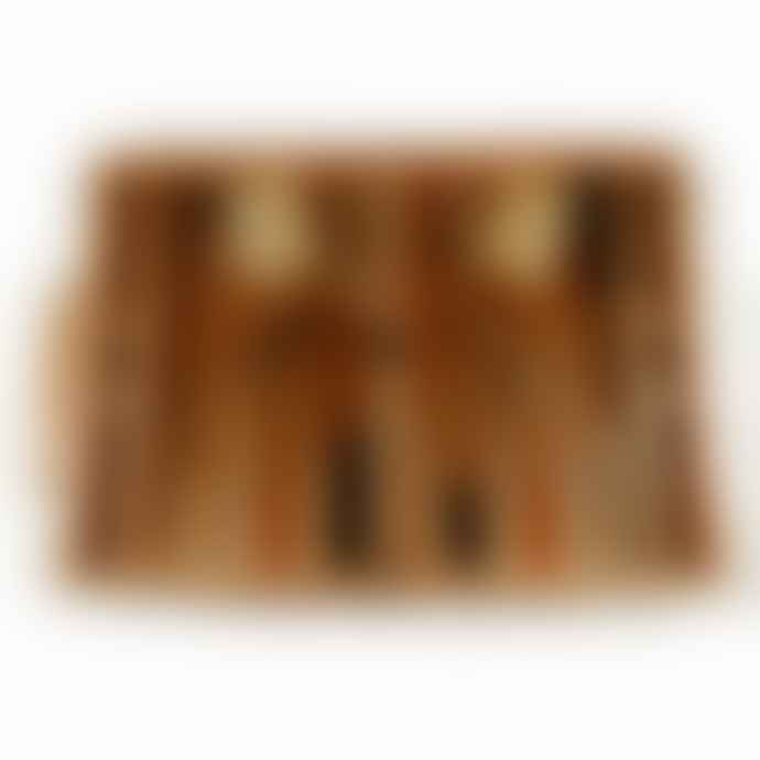 Hoyle's of Oxford Cotswolds Folding Backgammon Set Oak