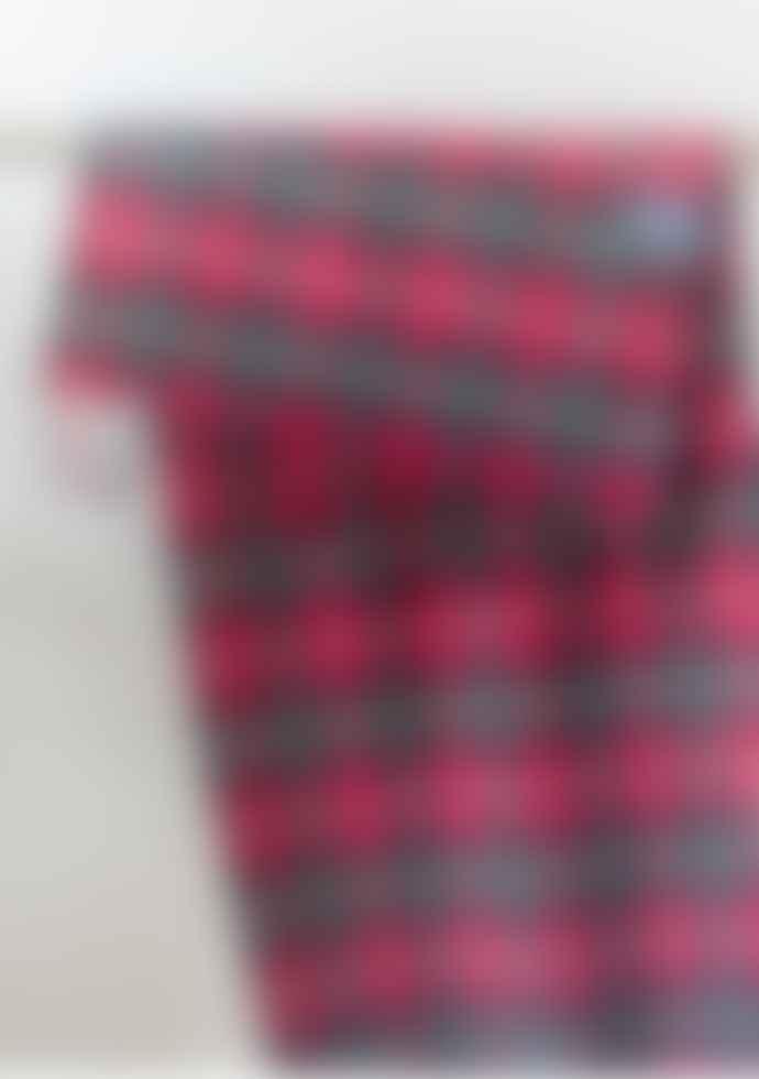 The Tartan Blanket Co. Oversized Lambswool Scarf In Dark Maple Tartan