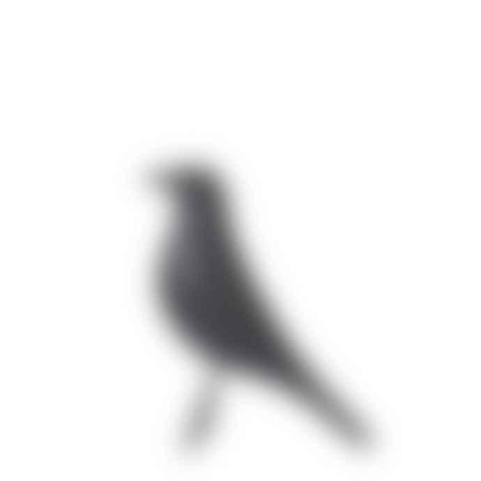 Wikholm Form Small Porcelain Bird Black