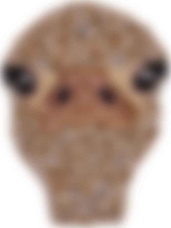 A la Beaded Ostrich Coin Purse
