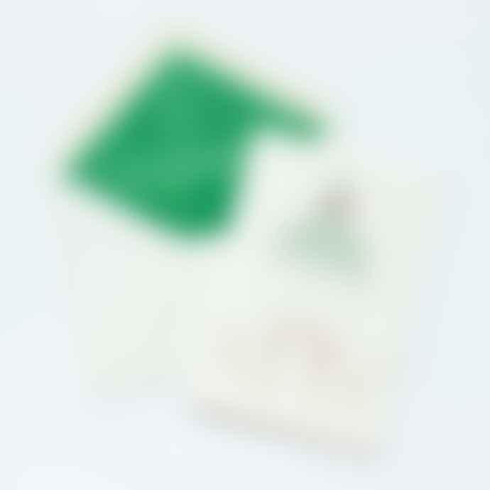 Meticulous Ink Mistletoe Dogs Letterpress Christmas Card - Single