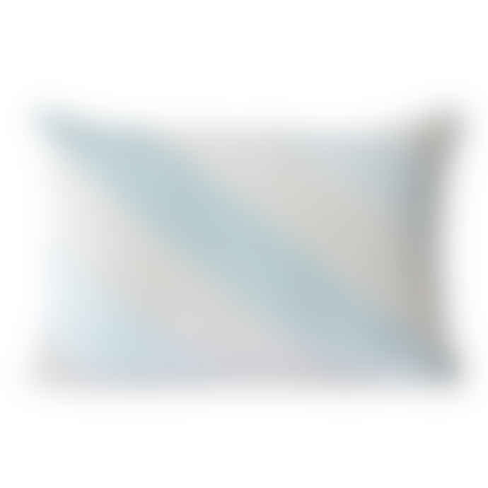 HKliving Striped Velvet Cushion Ice Blue 40x60