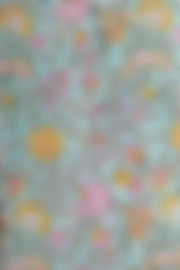 Bunti Hand Block Printed Kimono Robe Dressing Gown - Ayana