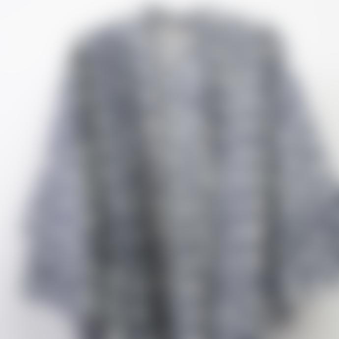 Afroart  Grey Natural Dyed Daisy Kimono Cotton