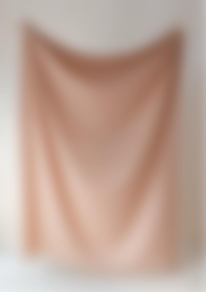 The Tartan Blanket Co. Lambswool Blanket In Cinnamon Gingham
