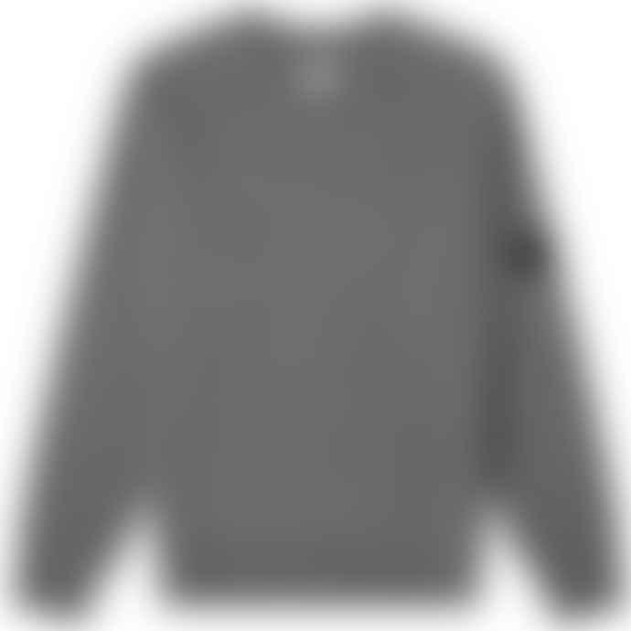 C.P. Company Grey Arm Lens Crew Knit