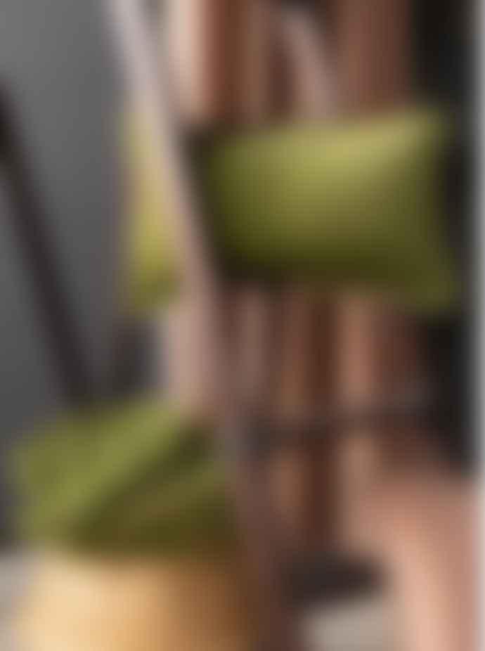 Viva Raise Fara Eucalyptus Green Fringed Velvet 30x50 Cushion