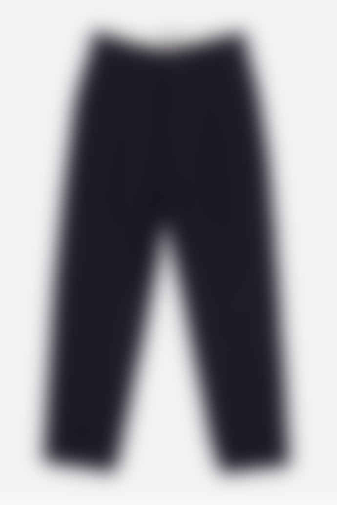 Outland Navy Pleats Wool Trouser