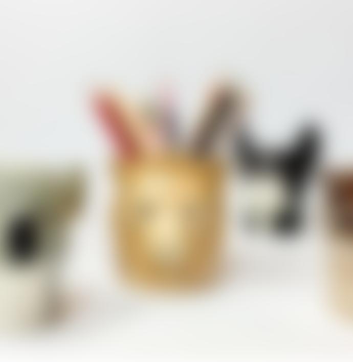 Quail Ceramics Ceramic Lion Pencil Pot