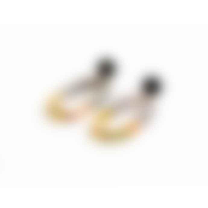 Big Metal Earrings 2683 Sandra Grey Green