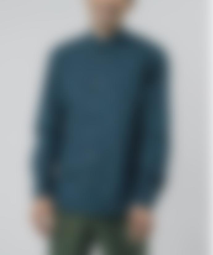 Brava Fabrics Polaroid Blue Printed Shirt