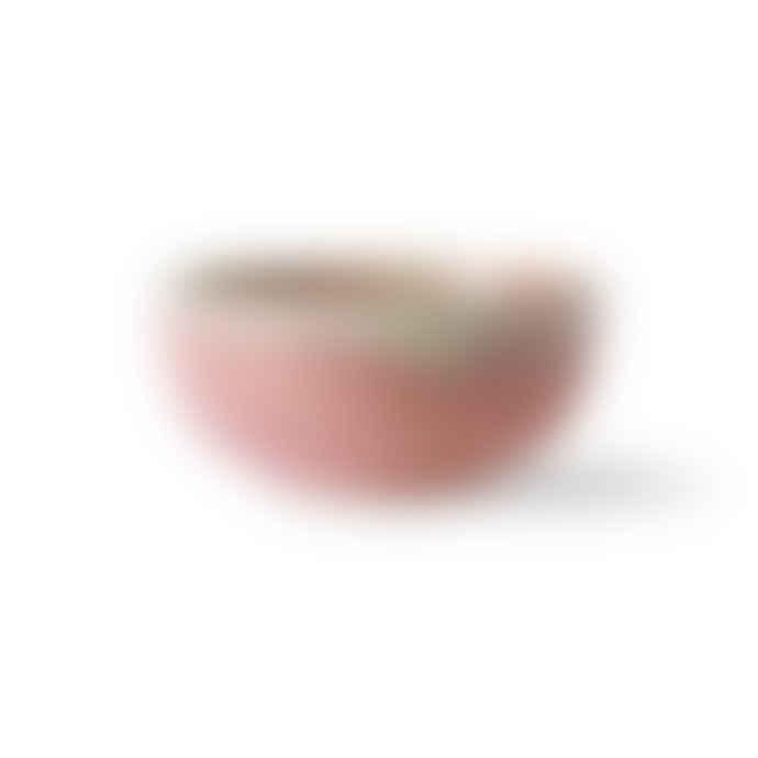 HKliving Home Chef Ceramics Rustic Pink Bowl Set of 2