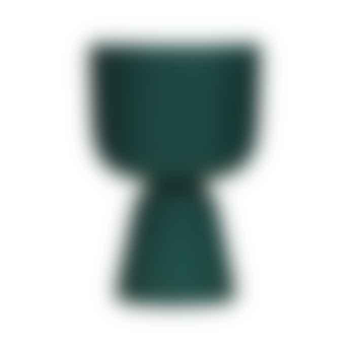 Iittala   Nappula Dark Green Plant Pot