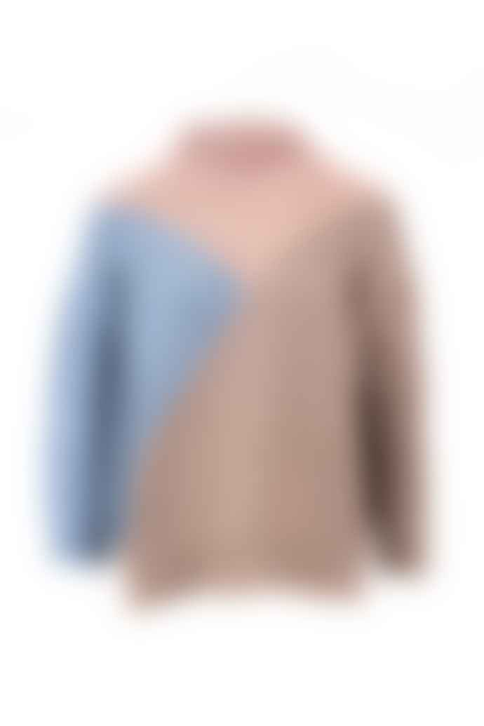 Naz Seia Chunky Sweater Blue & Pink