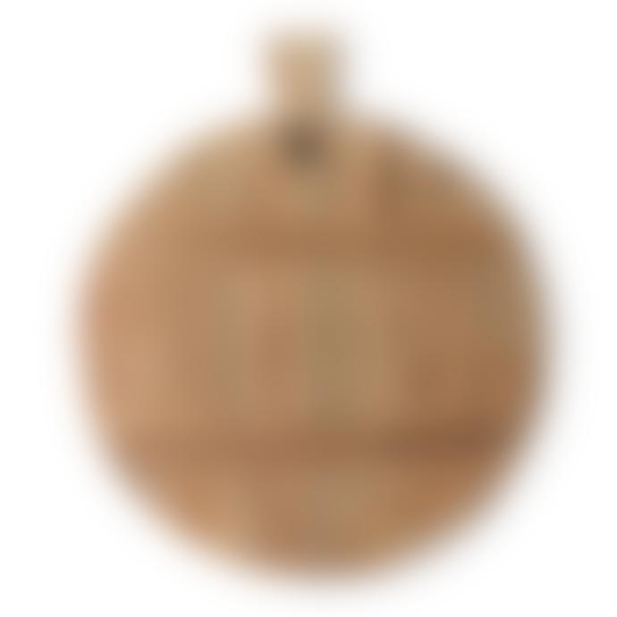 HKliving Medium Natural Reclaimed Teak Bread board