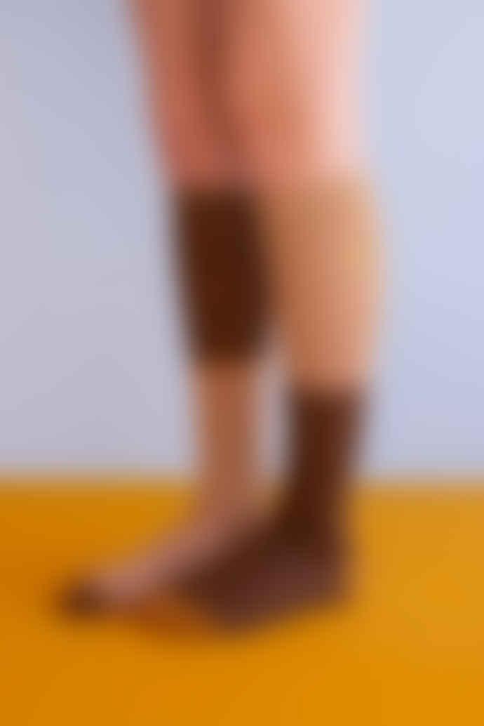 Sticky Lemon Knee High Socks   Sprinkles Cinnamon Brown