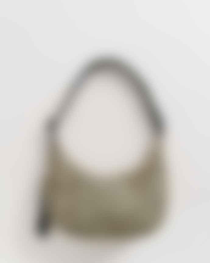 Baggu Medium Honey Leopard Nylon Crescent Bag