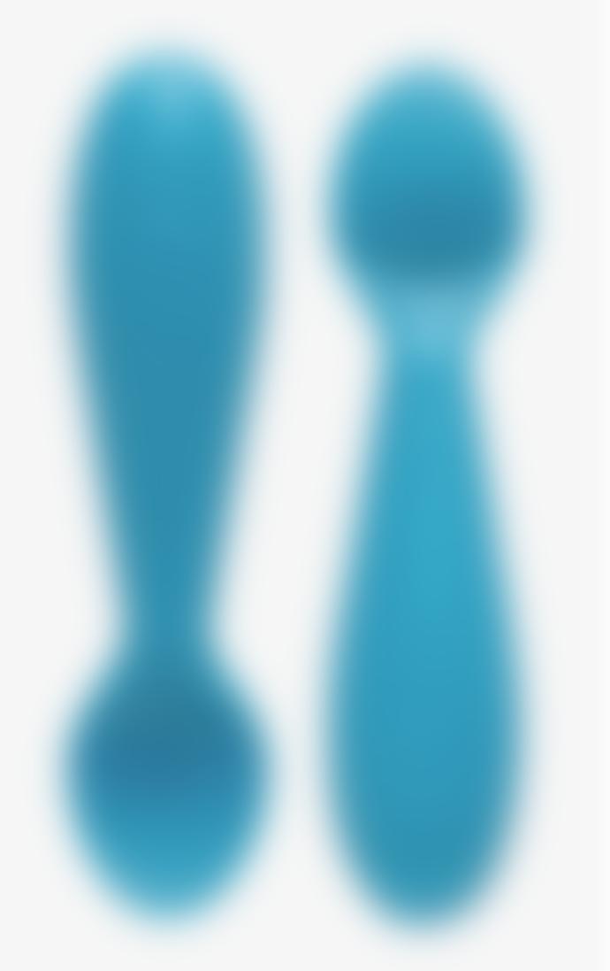 ezpz Set of 2 Blue Tiny Spoons