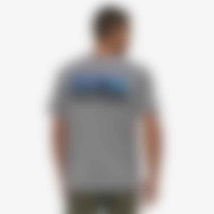 Patagonia Camiseta P 6 Logo Pocket Responsibili Tee Big Sky Blue