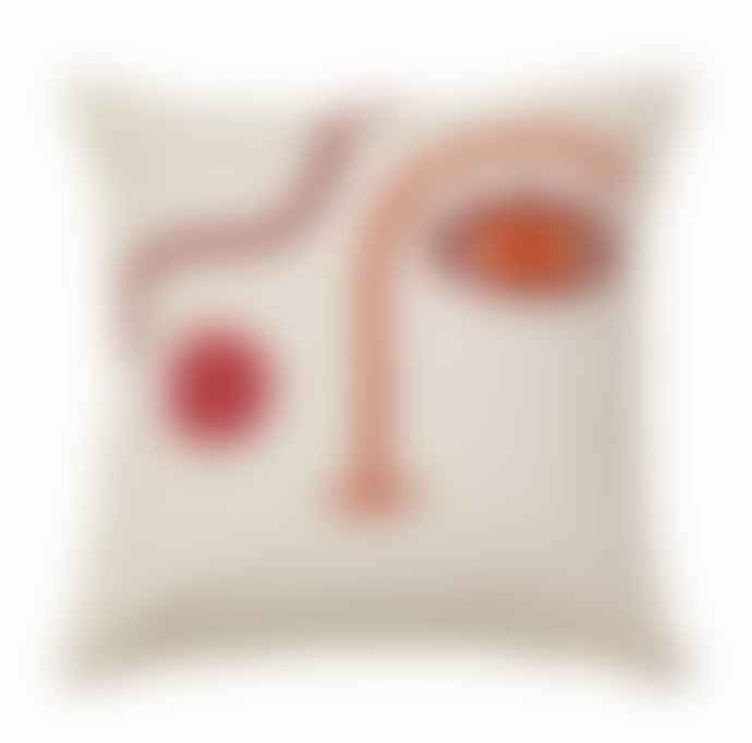Tufted Abstract Face Cushion