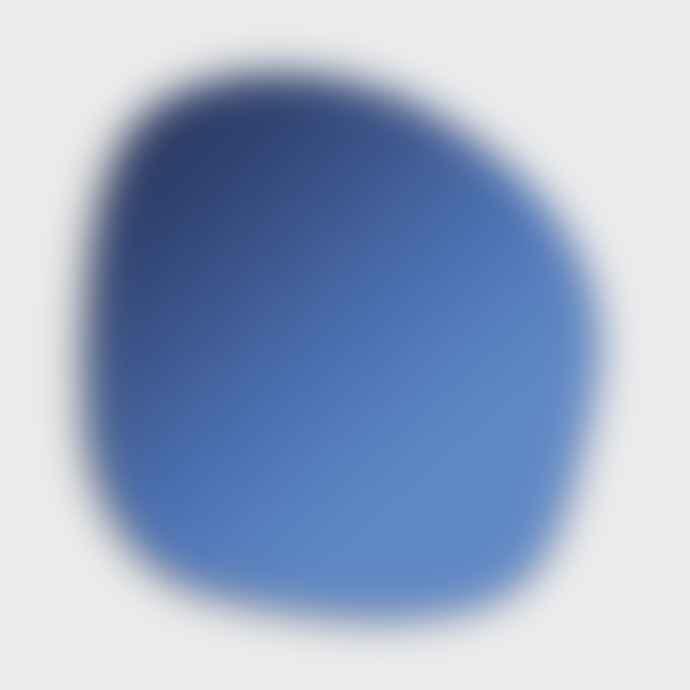 &klevering Dark Blue Pebble Mirror