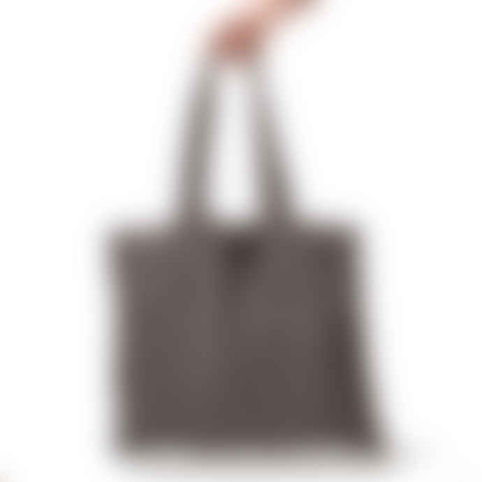 The Grey Works Large Linen Shopper Style Bag Grey