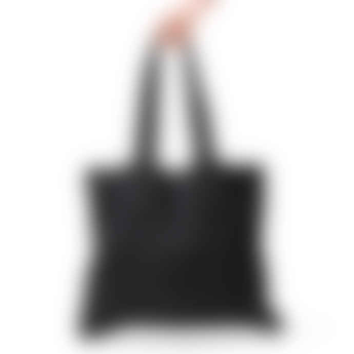 The Grey Works Large Linen Shopper Style Bag Black