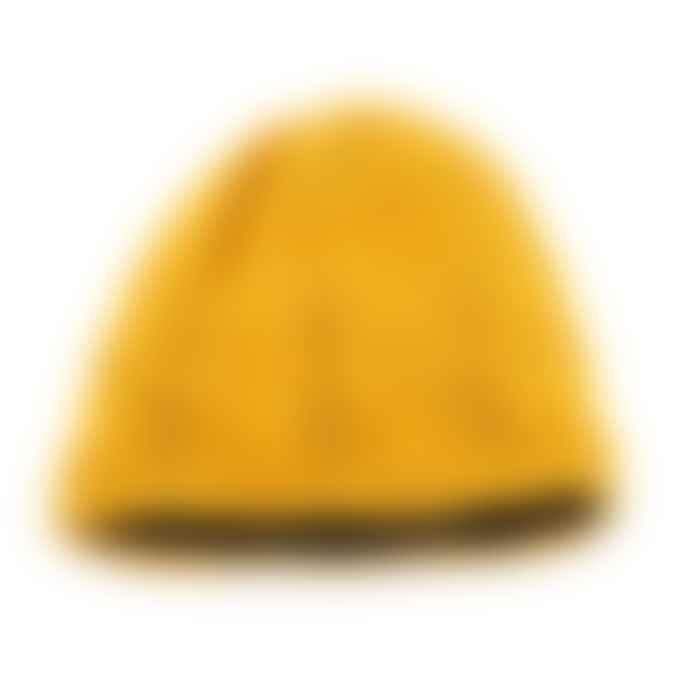 Sjaal met Verhaal Fleece-Lined Wool Ochre Yellow Crocheted Hat