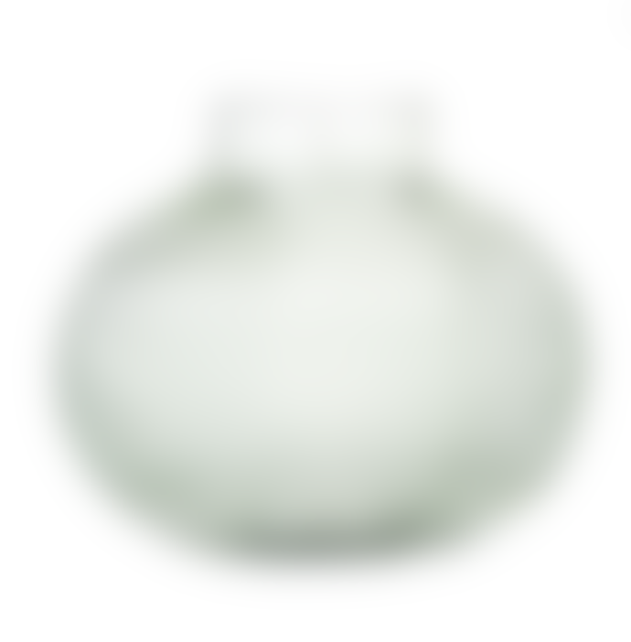 Bloomingville Light Green Glass Ribbed Vase