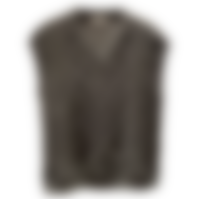 Sweet Like You V-Neck Cable Knit Debardeur Grey