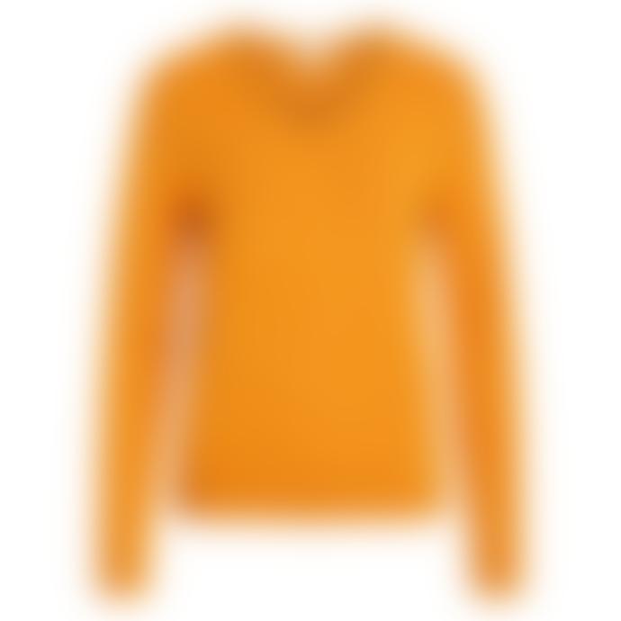 Vila V-neck Viril Sweater Yellow/Orange