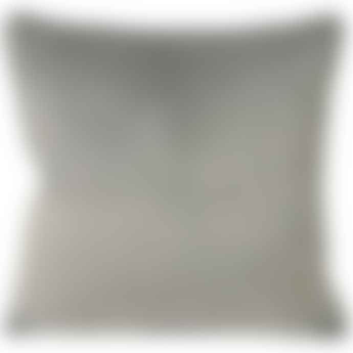 Paoletti Dove And Charcoal Velvet Cushion