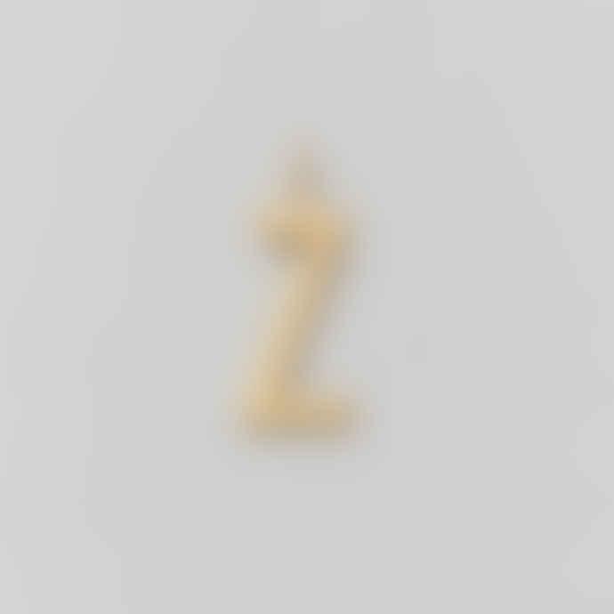 Design Letters 16mm Matt Gold Archetype Initial Charm